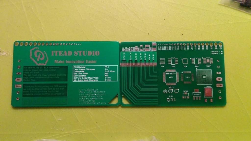 ITEAD studio supplied demo card